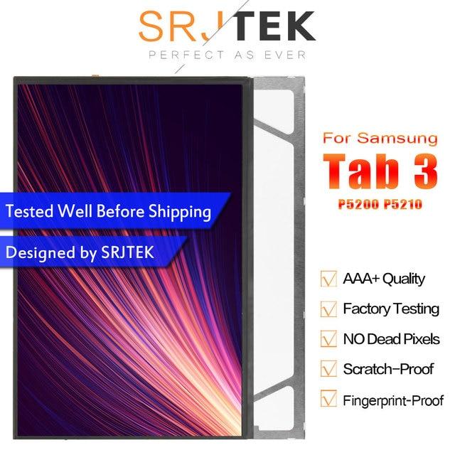 "SRJTEK 10.1 ""شاشات lcd لسامسونج غالاكسي تبويب 3 GT-P5200 P5210 P5200 شاشة الكريستال السائل مصفوفة شاشة وحدة اللوحي استبدال أجزاء"