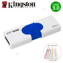 Kingston USB Flash Drive Pendrive usb3.zero DT106 16GB 32GB USB Three.zero Pen Drive Plastic cle usb 16gb 32gb Reminiscence Flash Memoria U Disk