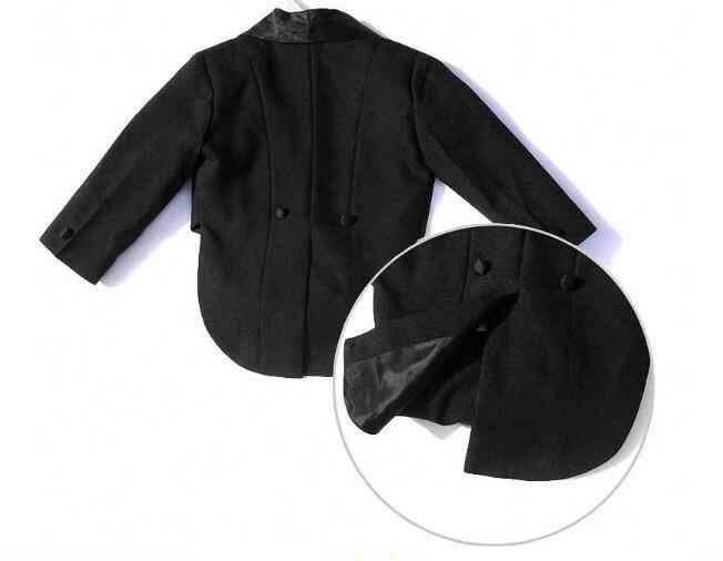 特別価格!赤ちゃん男の子の結婚式のスーツ5ピース:コート+ベスト+シャツ+ネクタイ+パンツ新生児結婚式スーツパーティー洗礼クリスマスドレス