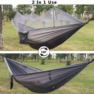 Image 5 - עמיד ערסל אוהל חוזק גבוהה מצנח בד תליית מיטת שינה עם כילה עבור חיצוני קמפינג נסיעות הישרדות