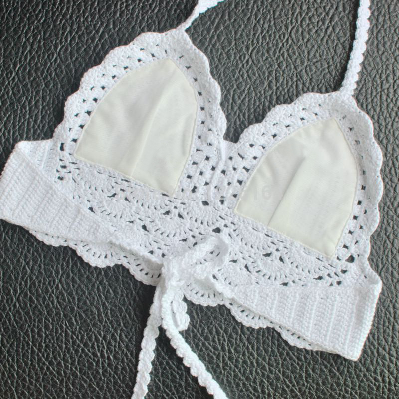 Verano bikini blusa BRA Womens bralette Halter Masajeadores de ...