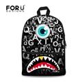 Monster Print Letters Children School Bags for Teenager Boys Schoolbag for Kids Student Shoulder Book Bag Casual Mochila Escolar