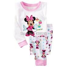 Children boys girls kids Clothing Sets Cartoon  Mouse suits 2 pcs sleepwear long sleeve cartoon pajamas