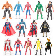 14 pcs/set Marvel the Avengers 15cm Super Hero Captain America Action Figures Toys Superman Spiderman Iron Man action toys(China)