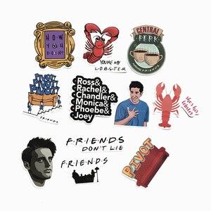 Image 5 - TD ZW 34 Pcs/Lot American TV Friends Sticker Funny Slogan Decal For Laptop Car Skateboard Bike Fridge Guitar Classic Stickers
