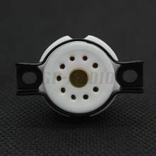 EIZZ высокое качество керамические 9pin трубки гнездо База золото латунь шпильки для 12AX7 ECC82 ECC83 12AU7 12AT7 ECC81 Hifi Аудио ламповый усилитель DIY
