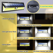 Adjustable Solar Wall Light PIR Motion Sensor Wall Light Waterproof LED COB Energy Saving Outdoor Garden Security Lamp 3 Modes(China)