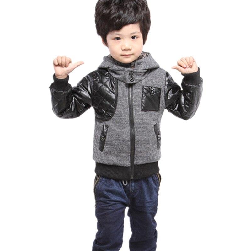 От 3 до 7 лет осень-зима куртка для мальчиков детская одежда с капюшоном мальчик пальто мода Повседневное Casaco детская Костюмы Infantil детская ве...