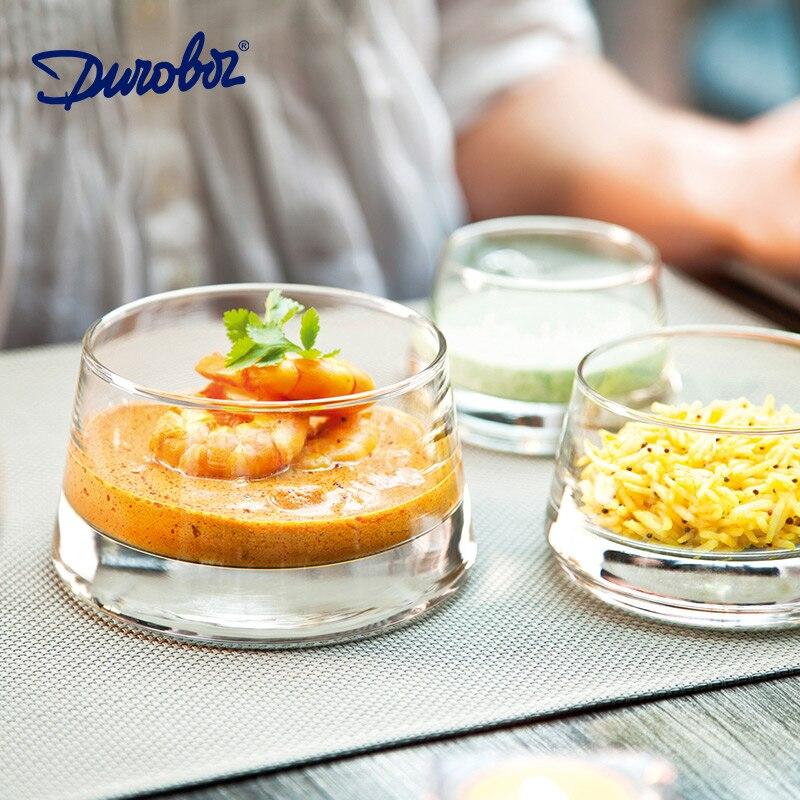 Assiette à Dessert créative assiette multicouche   Bol à salade en verre, assiette de service pour Restaurant occidental café café