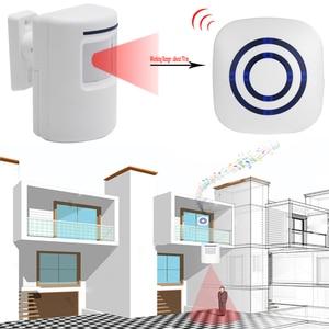 Image 2 - Kablosuz kızılötesi hareket sensörü kapı güvenlik Bell Alarm zil ab/abd Plug 3 AAA piller dahil değildir