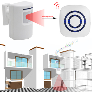 Image 2 - Wireless Infrared Motion Sensor Door Security Bell Alarm Chime EU/US Plug 3 AAA batteries Not Included