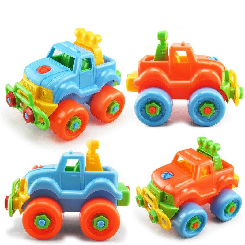 Bricolage vis écrou groupe installé en plastique 3d Puzzle démontage Mini voiture jouets apprentissage précoce éducation enfants jouets blocs de vissage