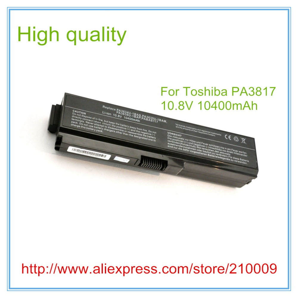 все цены на 12 cell 10400mah New Laptop Replacement Battery For L645 L655 L700 L730 L735 L740 L745 L750 L755 PA3817 PA3817U онлайн