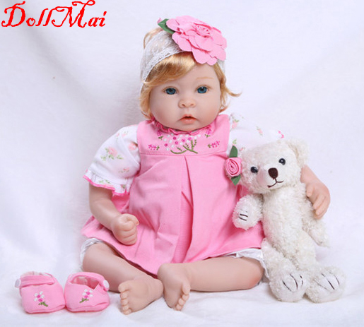 55cm Silicone Reborn Baby Doll Toys Simulation Vinyl Princess Dolls High-end Girls Birthday Gift Present Play House Bedtime Toy55cm Silicone Reborn Baby Doll Toys Simulation Vinyl Princess Dolls High-end Girls Birthday Gift Present Play House Bedtime Toy