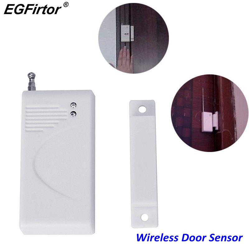 Battery Power Magnetic Contact Sensor Wireless Window Door Sensor 433MHz 1527 Code For Any Wireless Burglar Alarm Panel