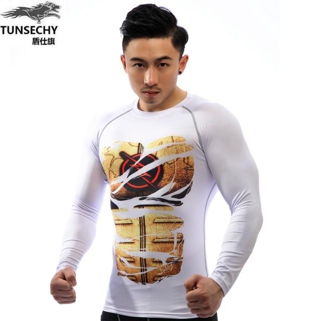 b8db7bc7c The new Authentic 3D T shirt printing flash TUNSECHY Original brand men's T- shirt, long sleeved tight funny supreme T shirts