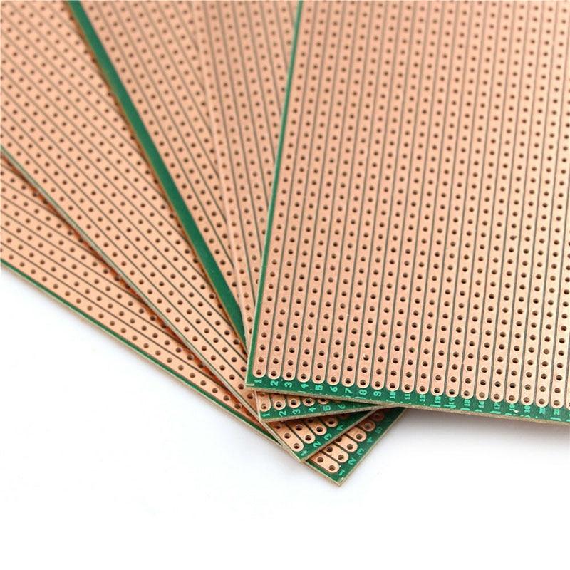 5pcs/set 6.5x14.5cm DIY Prototype PCB Board Stripboard Veroboard Uncut PCB Platine Single Side Circuit Board