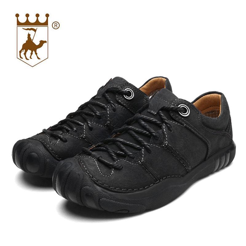 BACKCAMEL äkta läder utomhus man casual skor manliga skor andas - Herrskor - Foto 2