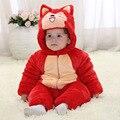 Мода осень малышей девочка и мальчик зимняя одежда толстый хлопок подкладка Зима малыш комбинезоны