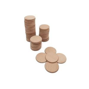 Image 1 - Paquete de recorte de madera Natural para decoración del hogar, Círculo de madera no acabado de 38mm y 100 pulgadas, redondo rústico, suministros para manualidades DIY, 1,5 Uds.