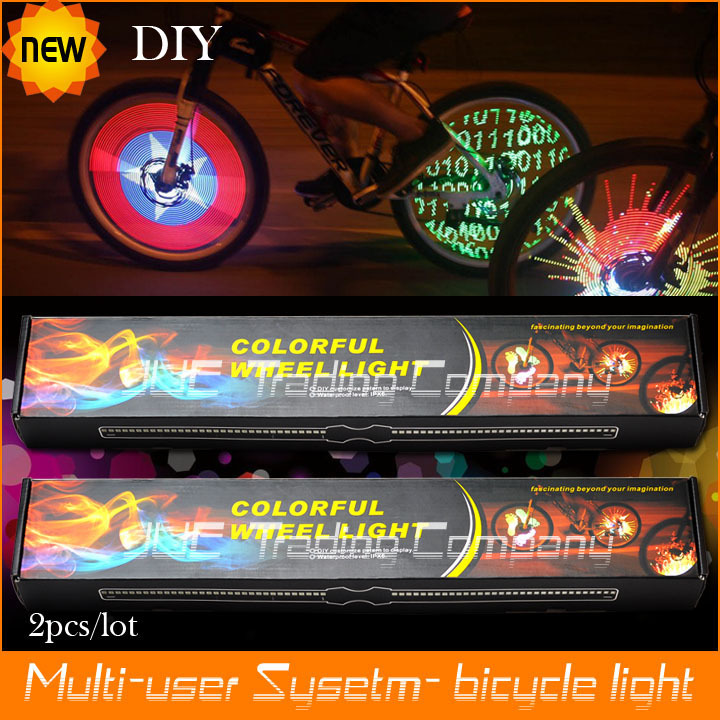 US $95 5 |Factory price, 2pcs/lot ,Free Shipping by DHL  Bicycle bike light  128 LED colorful Wheel light monkey Light, bike accessories-in Bicycle