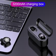 F9 TWS Bluetooth Earphone 5.0 Wireless Headset Stereo Bass Earphones With Microphone 3200mAh Charger Box