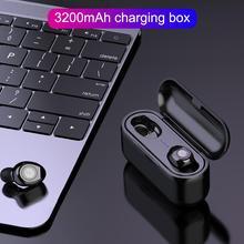 F9 TWS Bluetooth Earphone 5.0 Wireless Headset Stereo Bass Earphones With Microphone 3200mAh Charger Box