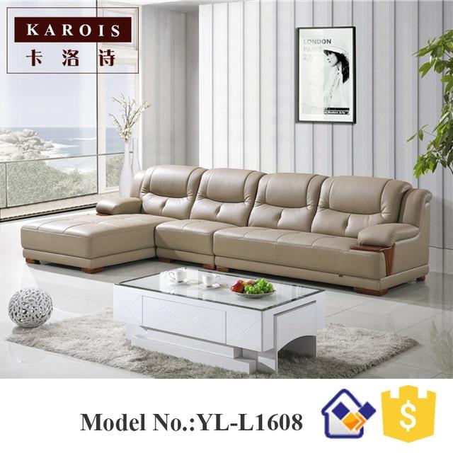 Tienda Online Cuero moderno mooka muebles de sala sofá king size ...