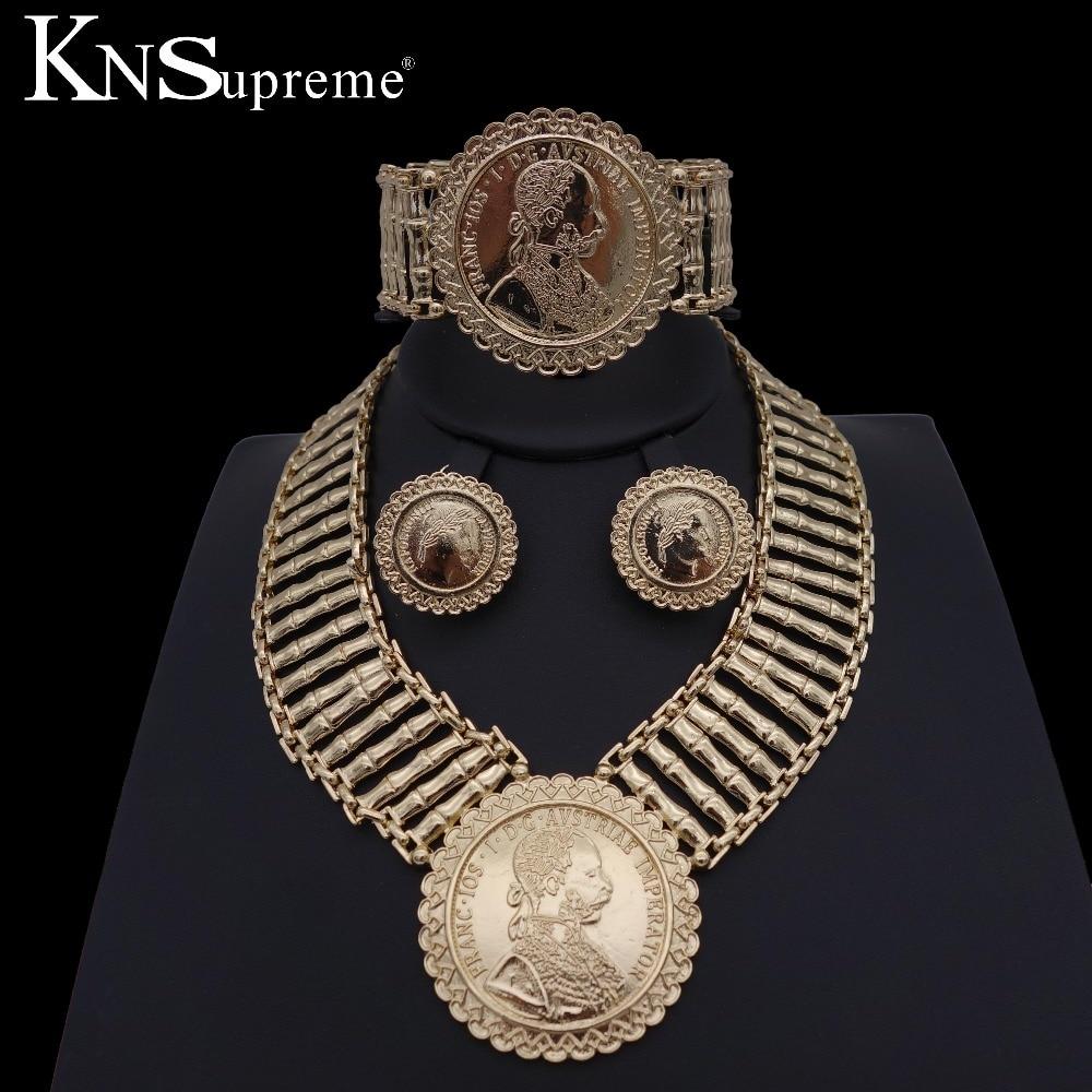 African Fashion Dubai jewelry sets Gold jewelry bridesmaid