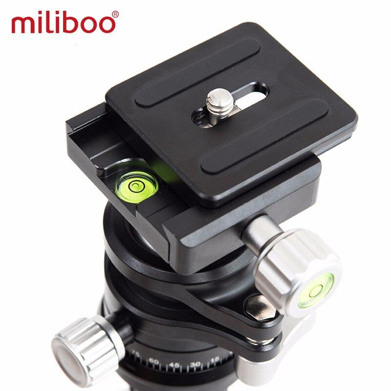 Tüketici Elektroniği'ten Üç Ayak Kafaları'de Miliboo kamera tripodu/monopod Alüminyum Video Kamera Taşınabilir Tripod Sıvı Kafa 50mm Kase title=