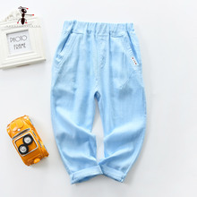 Kung Fu Ant 2019 7 kinds of Candy Colors Straight full-length pants new summer loose spring boy cotton casual 734