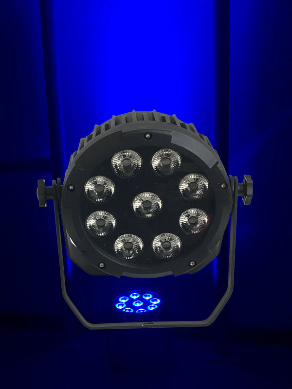 10X Rasha 6in1 Battery Powered LED Par Light Aluminum 9 18W RGBAW UV Wireless LED Par Can With 13200MAH Battery Remote Control in Professional Lighting from Lights Lighting