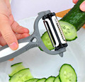 Multifunctional 360 Degree Rotary Potato Peeler Vegetable Cutter Fruit Melon Planer Grater Kitchen Gadgets with 3 Blades