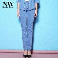 Nordic Winds Women Jeans Pants 2018 Autumn Long Skinny Jeans Woman Big Size Casual Trousers Unique
