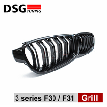 2012-2015 3series f30  Facelift ABS shiny black Grills, Auto Car Front Grille Double slat front grille For BMW possbay fit for bmw 3 series e90 sedan 2008 2011 facelift double rib front bumper kidney grille high quality car center grills