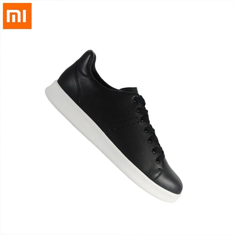 Xiaomi Mija gratuit cravate loisirs chaussures en cuir véritable confortable antidérapant mode respirant chaussures de sport intelligentes pour homme femme