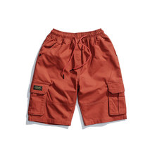 Hot 2019 outdoor summer elastic waist cotton trekking hiking camping teenagers loose cargo tactical shorts men