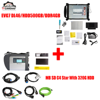 MB Star C4 SD Diagnosis with EVG7 DL46/HDD500GB/DDR4GB Diagnostic Controller Tablet PC with WIFI for Cars and Trucks V2019.03