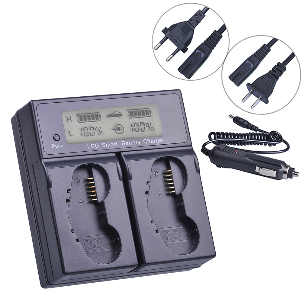PowerTrust EN EL4 LCD Schnelle Smart Dual Batterie Ladegerät für Nikon EN EL4A EN EL4a ENEL4 Batterie D3S D2H D2Hs D3 D2Xs D2X d300 F6-in Kamera-Ladegerät aus Verbraucherelektronik bei  Gruppe 1