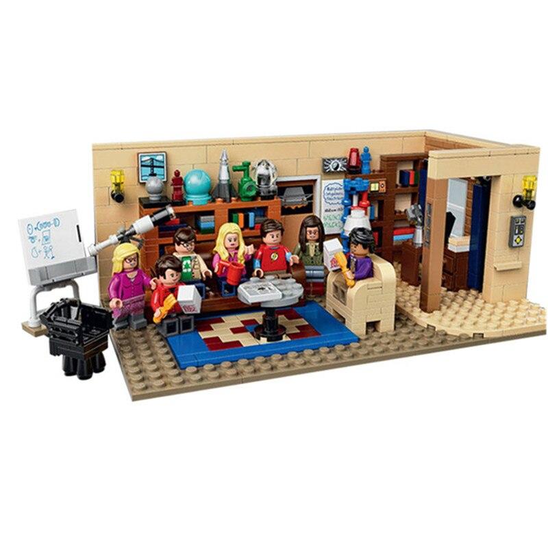 16024 Лепин идеи серии Теория большого взрыва модель здания Конструкторы Просветите фигурку игрушечные лошадки для детей Совместимость Legoe