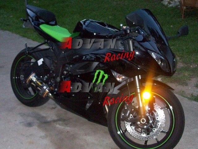 26 Abs Plastic Black Fairing Custom Painted Kawasaki Ninja Zx6r