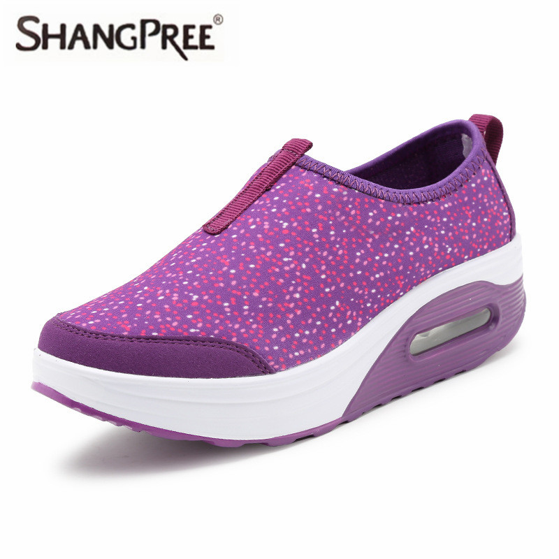 SHANGPREE New 2018 Height Increasing Spring Summer Shoes Women's Shoes Fashion Walking Shoes Women Swing Wedges Shoes Breathable hot height increasing 2016 summer shoes women s casual shoes sport fashion walking shoes for women swing wedges shoes breathable
