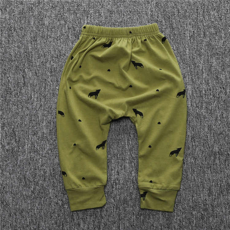พิมพ์ลายผ้าฝ้ายกางเกงเด็ก Babys เด็ก PP กางเกงกีฬาเด็กกางเกง Harem กางเกงเด็กสำหรับทารกแรกเกิด Boy Boy เสื้อผ้า