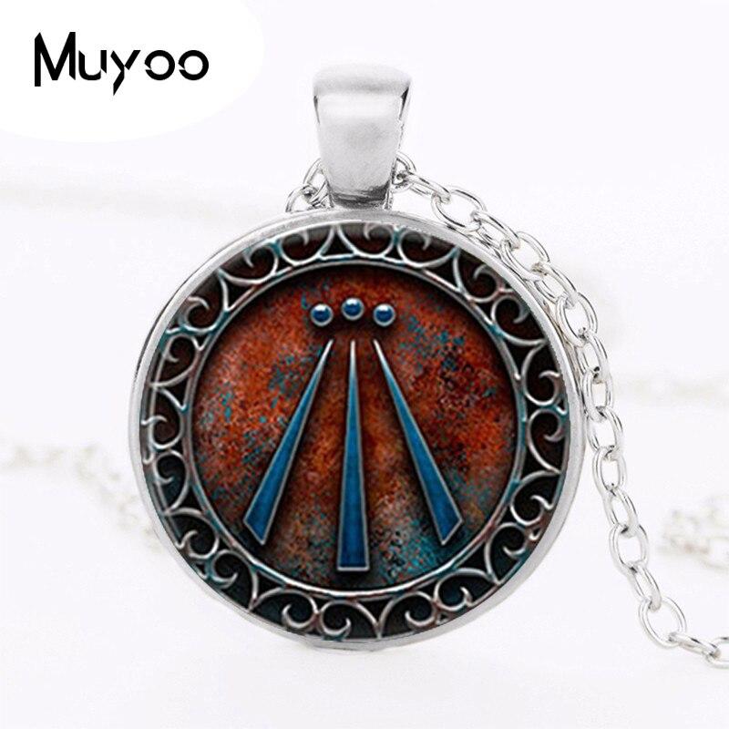 1pcslot Awen Symbol Druid Pendant Necklace High Quaity Black Chain Handmade Vintage Fash ...