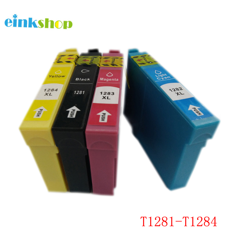 1 Set T1281 T1282 T1283 T1284 Ink Cartridge za Epson Stylus S22 SX125 - Uredska elektronika