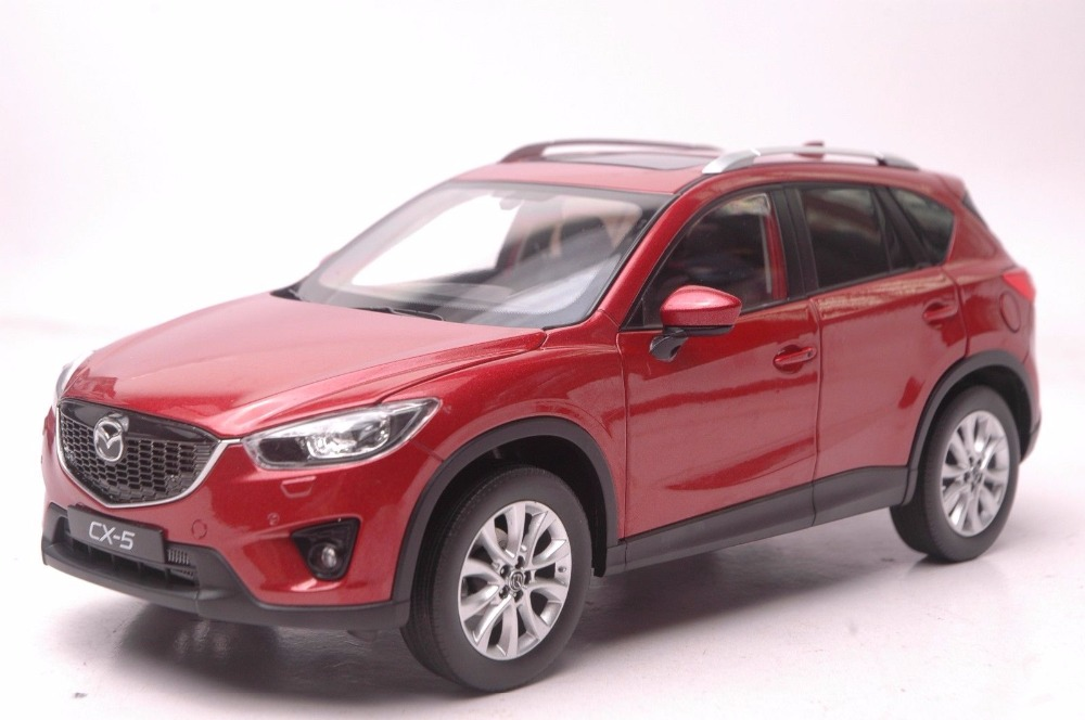 1:18 Diecast Model for Mazda CX-5 2014 Red SUV Alloy Toy Car Miniature Collection Gift CX5 CX 5 1 18 vw volkswagen teramont suv diecast metal suv car model toy gift hobby collection silver