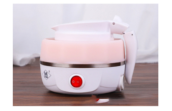 folding electric travel kettle and mini hot water portable pot with automatic power off