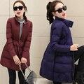 Женщины вниз куртки женские зимние пальто длинные куртки для девочек осень ветровки женские сплошной цвет теплые пальто и пиджаки шинель MZ1080