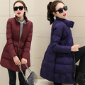 Las mujeres chaqueta abajo mujer abrigo de invierno largas chaquetas para las niñas otoño abrigos outwear abrigo parkas ladies color sólido caliente MZ1080