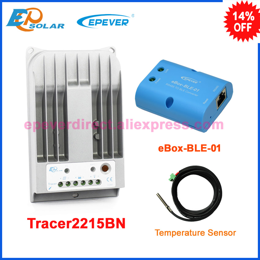 12v solar panel system tracer MPPT EPEVER Charging controller Tracer2215BN 20A  temperature sensor and BLE BOX free shipping a proposed wavenet identifier and controller system